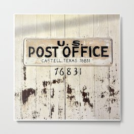 Post Office in Castell, Texas Metal Print