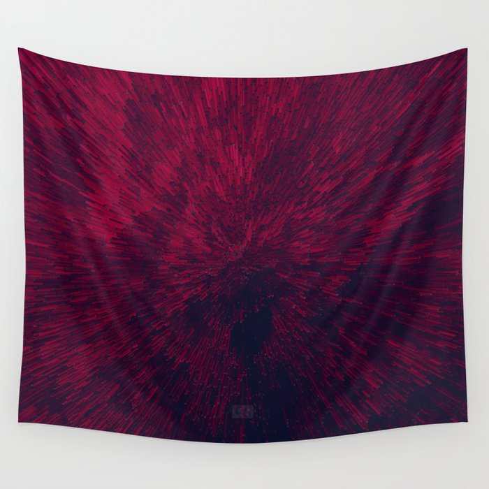 Bold Burst in Red Wall Tapestry