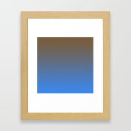 Brown and Blue Gradient 013 Framed Art Print