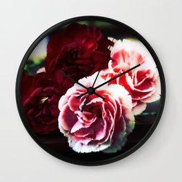 Lomo Carnations Wall Clock