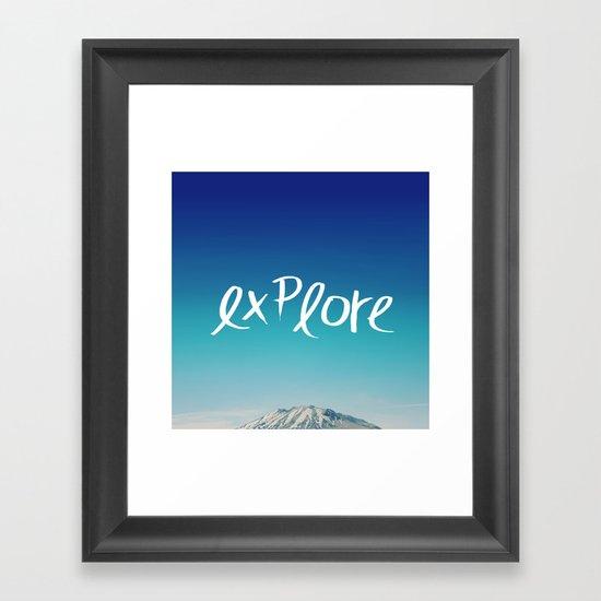 Explore: Mountain Framed Art Print