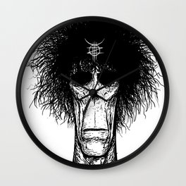 Zed Mercury: Psychopomp, portrait Wall Clock