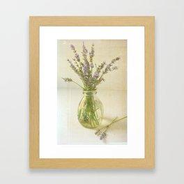 Lavender and Milk Framed Art Print
