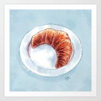 Croissant Art Print