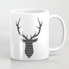 Patterned Stag's Head Coffee Mug