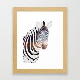 Galactic Zebra Framed Art Print