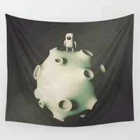 astronaut Wall Tapestries featuring Astronaut by Metin Seven