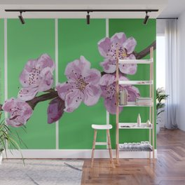 Cherry Blossoms on Greens Wall Mural