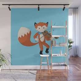 Forrest Fox Fiddles Fast Wall Mural