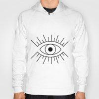illuminati Hoodies featuring Illuminati Eye by Lucas de Souza