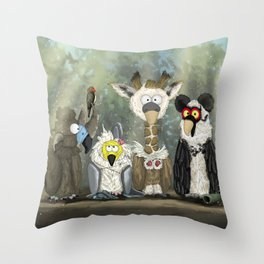 Vultures undercover Throw Pillow