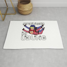 Skydivers In Exercise Gift Rug