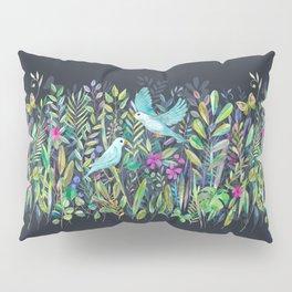 Little Garden Birds in Watercolor Pillow Sham
