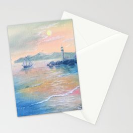 Evening ocean,sunset Stationery Cards