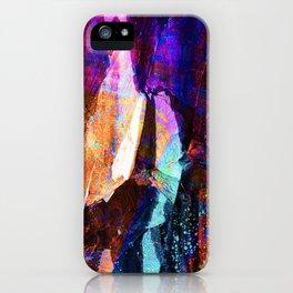 ABSTRACT NATURE // NEW ZEALAND // RAINBOW ROCKS iPhone Case