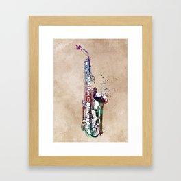 saxophone music art #saxophone #music Framed Art Print