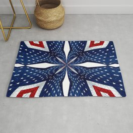 American Flag Kaleidoscope Abstract 3 Rug