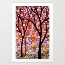 Flaming Sky Art Print