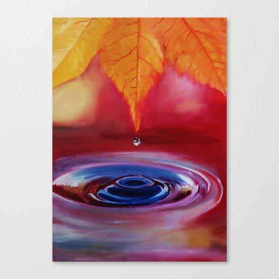 Autumn rain Canvas Print