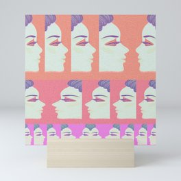 About Face: Contemporary Candy Color Pop Print Mini Art Print