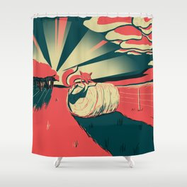 Fox at Sunset Shower Curtain