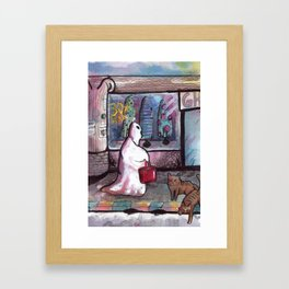 cute ghost Framed Art Print