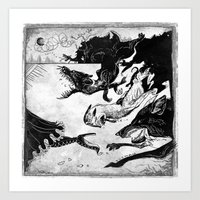 outlander Art Prints featuring Hunted by Dushan Milic