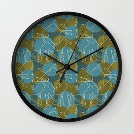 Tipsy Martini Wall Clock
