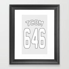 TCOM 646 AREA CODE JERSEY Framed Art Print