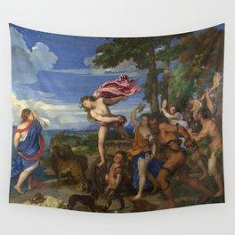 """Titian (Tiziano Vecelli) """"Bacchus and Ariadne"""", 1520-1523 Wall Tapestry"""