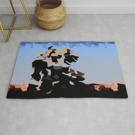 Colorblock Abstract Landscape Rug