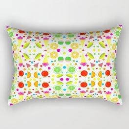 Tasty Treats Summer Foods Repeating Pattern Rectangular Pillow