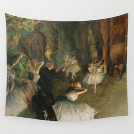 "Edgar Degas ""The Rehearsal of the Ballet Onstage"" Wall Tapestry"