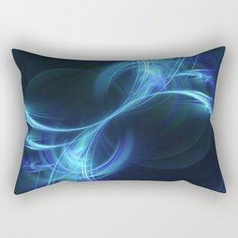 Blue Pulsar Rectangular Pillow