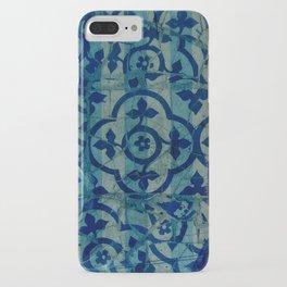 mosaic in cyan iPhone Case