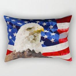 American Eagle and Flag Rectangular Pillow
