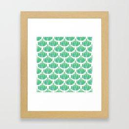Natural Leaves Beautiful Scalloped Pattern Framed Art Print
