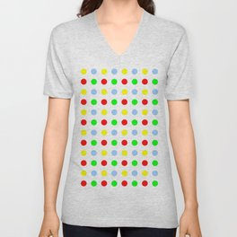 new polka dot 11 - multicolor Unisex V-Neck