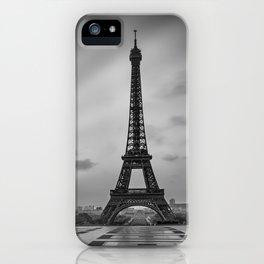 Eiffel Tower at Sunrise | Monochrome iPhone Case