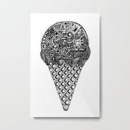 Ice cream cone... Metal Print