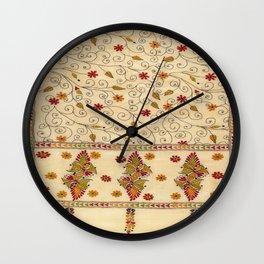 Kantha Fabric Art Wall Clock