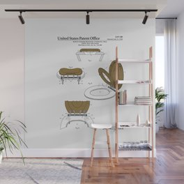 Toilet Seat and Cover Patent Wall Mural