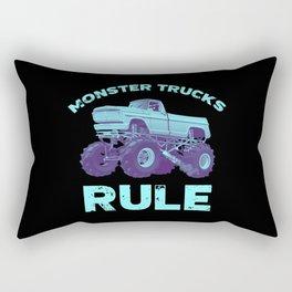 Awesome Monster Trucks Rule Funny Trucks Gift Rectangular Pillow