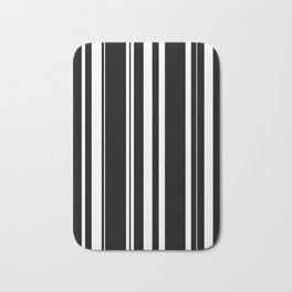 Black and white stripes 4 Bath Mat