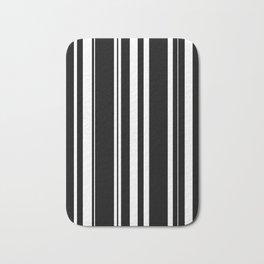 Black and white stripes 4 Bath Mat