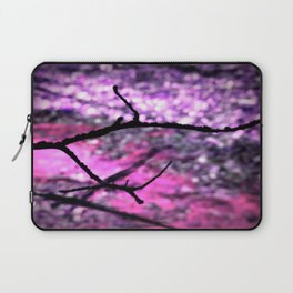 Pink Lavender Nature Abstract Laptop Sleeve