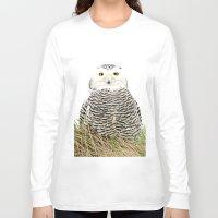 hedwig Long Sleeve T-shirts featuring Hedwig by Ruurd Jelle van der Leij Highkeyart
