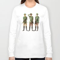 top gun Long Sleeve T-shirts featuring Barely Soldiers by Torrinika