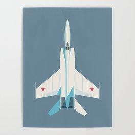 MiG-25 Foxbat Interceptor Jet Aircraft - Slate Poster