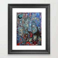 Obsidian night Framed Art Print